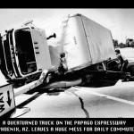 Traffic accident, phoenix, az., papago expressway, randy thieben, photography